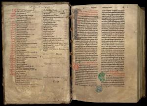 Grand passionnaire de Clairvaux en sept volumes, 3e volume. MGT, ms. 1, f. Av-1r.
