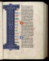 Grande Bible de Clairvaux. MGT, ms. 27, t. 1, f. 7.