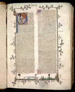Pierre de Ceffons, Lecture sur les Sentences. MGT, ms 62, f. 1r