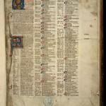 Début de la concordance biblique de Hugues de Saint-Cher.