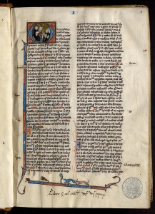 Saint Thomas d'Aquin, Somme théologique. MGT, ms 499, t. 1, f. 1.