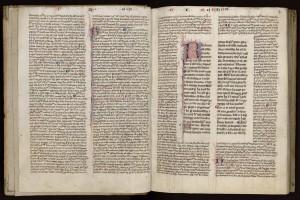 Rhétorique d'Aristote glosée. MGT, ms. 912, f. 1v-2r.
