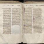 glosé. Montpellier, BU méd., H182, f. 150v-151r.