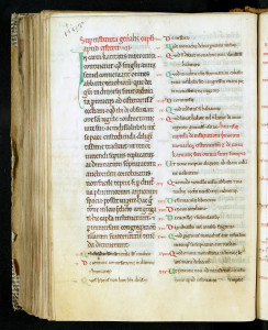 Usages cisterciens : Instituta capituli generalis. Troyes, MGT, ms. 186v.