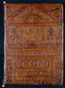 Reliure romane, manuscrit du Prince Henri Ms. 2266 reliure plat supérieur ms 2266 plat sup