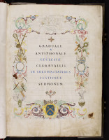 Graduel - Antiphonaire de Clairvaux, conservé à Bar-sur-Aube. Bar-sur-Aube, Médiathèque Albert Gabriel, ms 1.