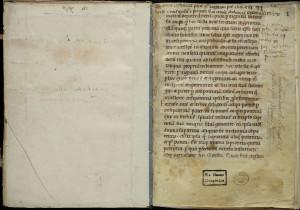 Manuscrit du Contra dogmata Abelardi, sorti des collections de Clairvaux vers 1600 (Budapest, Szechenyi National Libray, 16).