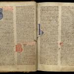 Légendier de Clairvaux du XIIe siècle, portant des additions du XVIIe siècle destinées à en faciliter la lecture. MGT, ms. 6, f. IV.