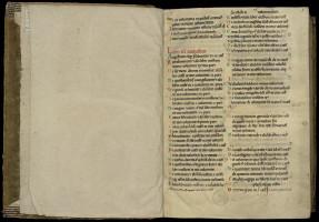 Fragment de catalogue de la deuxième moitié du XIIe siècle. MGT, ms. 32, f. 1.