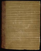 Demi-reliure du XVIIIe siècle, en basane et papier peint sur carton, de type 2. MGT, ms. 592, plat supérieur.