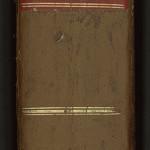 Demi-reliure en cuir et carton, d'inspiration classique, du début du XIXe siècle. MGT, ms. 846, dos.