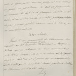 Page de titre du mémoire sur les vols de Harmand] Rapport des experts dans l'affaire Harmand. Description d'un feuillet mutilé de manuscrit donné par le prince Henri vers 1150.