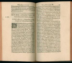 Edition princeps du sermon de Pierre de Celles sur la vie de saint Fidolus dans le Promptuarium de Nicolas Camuzat. MGT, Mit. F 7-89.